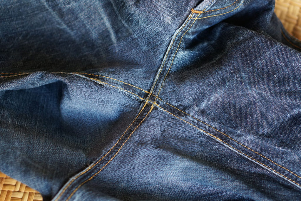 Repaired Hiut Denim jeans